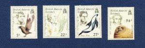 BRITISH ANTARCTIC TERRITORY - # 125-128 -  FVF MNH see note -- Birds - 1985