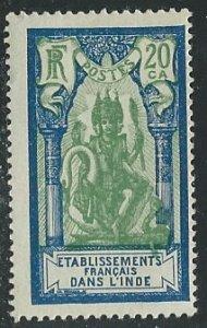 French India ||  Scott # 89 - MH