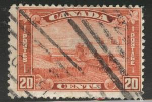 CANADA Scott 175 Used 1930 20c Wheat Harvesting stamp