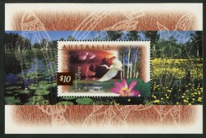 AUSTRALIA Sc#1535a 1997 $10 Flora & Fauna Souvenir Sheet OG Mint NH