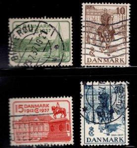 DENMARK  Scott 259-261 Used  stamp set