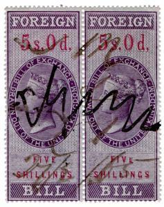 (I.B) QV Revenue : Foreign Bill 10/- (1857)