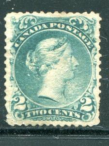 Canada #24 (*)  unused  F- VF bluish green shade     - Lakeshore Philatelics