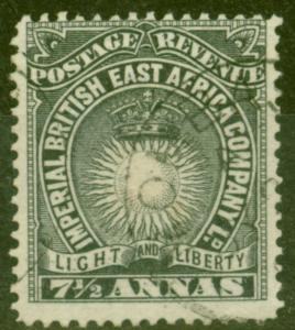 B.E.A KUT 1895 7 1/2a Black SG30 Fine Used Mombasa CDS