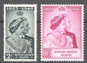 Solomon Islands Sc# 82-83 MH 1949 Silver Wedding Issue