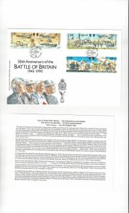 Isle of Man 426-31 Battle of Britain 1990  Official FDC