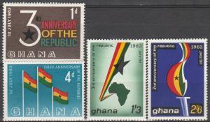 Ghana #143-6 MNH  (S487)