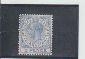 Gibraltar  Scott#  81  MH  (1912 King George V)