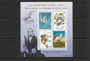 BIRDS - AUDUBON- FRANCE #2465a (S/S)  MNH