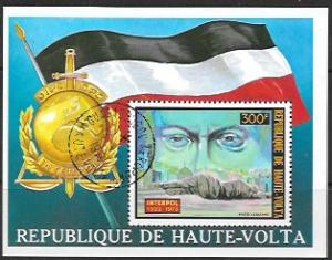 Haute-Volta Souvenir Sheet Interpol 1974 used