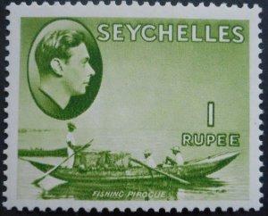 Seychelles 1938 GVI One Rupee SG 146 mint