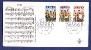 Aruba 1989  FDC 24 Dande musicians