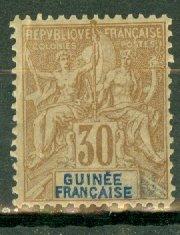 B: French Guinea 12 mint CV $40