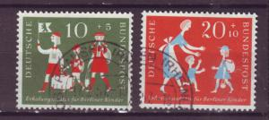 J16058 JLstamps 1957 germany set used #b354-5 children