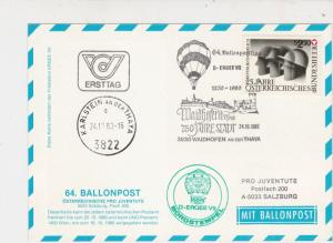 Austria 1980 750 Year Town Slogan Balloon Post Stationary Stamps Card Ref 27539
