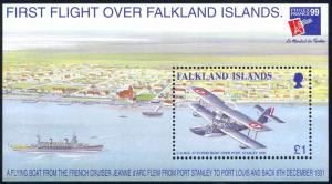 Falkland Islands Sc# 733 MNH Souvenir Sheet 1999 PhilexFrance 99