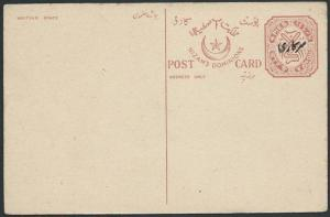 INDIA HYDERABAD overprinted 4p postcard fine unused........................45596