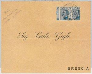 4765  - ITALIA REGNO - STORIA POSTALE - RARA VARIETA' su BUSTA 1920
