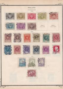poland  1924 - 1928 stamps on album page ref r11861