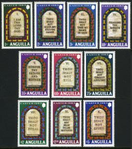 Anguilla 526-535, MNH. Easter. Ten Commandments, 1983