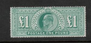 Great Britain #142 (SG #266) Very Fine Never Hinged Gum Bend *With Certificate*
