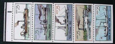 USA 2409a, Steamboats booklet pane, MNH, VF
