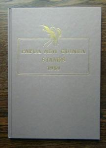 Papua 1989 Year Book with Flowers Writing Dwellings Birds Dancers Christmas MNH
