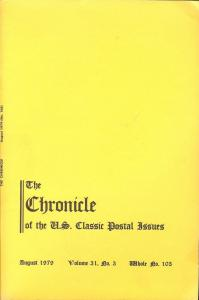 The Chronicle of the U.S. Classic Issues, Chronicle No. 103