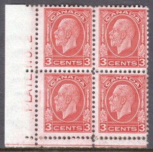 Canada - Scott #197 - Block/4 - MNH - One fingerprint noted - SCV $11.20