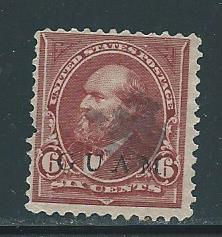 Guam 6 6c Grant single Used Pulled Perf