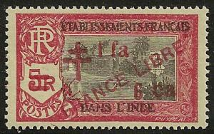 French India #166 VF NH 1942 1fa6ca Kali Temple Overprinted
