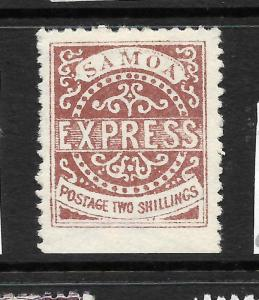 SAMOA  1877-80  2/-  BROWN   EXPRESS   MNG   SG 18