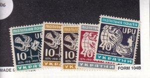 D.P. Camp: Wohltatigkeits-Ausgaben Camp, Wilhelm #5-8, MNH (42806)