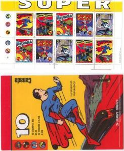 Canada - 1995 Comic Book Heroes Complete Booklet #BK185b