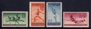 Yugoslavia - Scott #B70-B73 - MH - Glazed gum - SCV $6.25