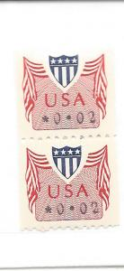 United States,CVP,2c Computer Vending Postage Coil Pairs,MNH