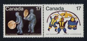 Canada 837ii-8 pair MNH Inuit Art, Dance, Soapstone Carving