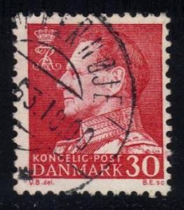 Denmark #385 King Frederik IX (non-fluor), used (0.50)