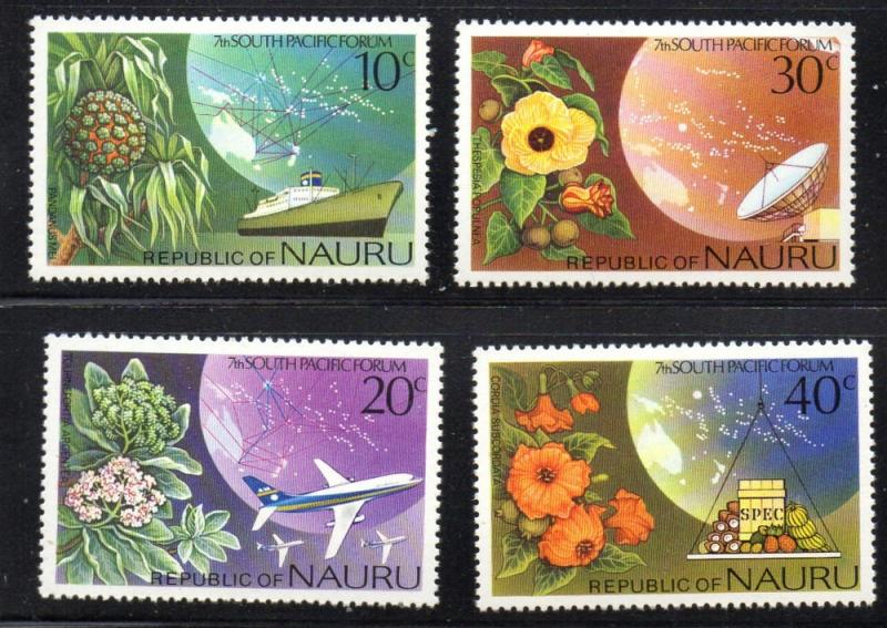 Nauru Sc 142-5 1976 shipping & plants stamp set mint NH