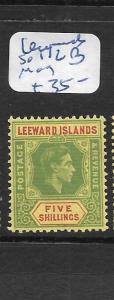 LEEWARD ISLANDS  (PP1406B)   KGVI 5/-  SG 112B   MOG