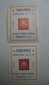 Trenpex 1941 Electric Lights Golden Jubilee Souvenir Label Ad