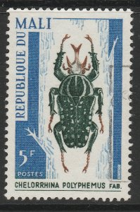 MALI Insect Coleoptera Scarab Beetle tropical African forests 5f used A16P1F6