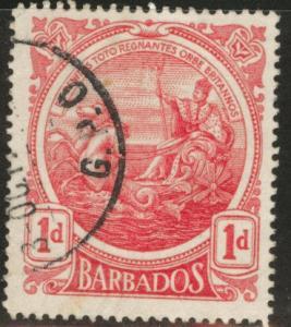 Barbados Scott 129 1p 1916