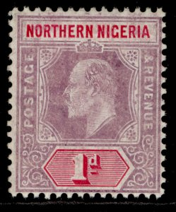NORTHERN NIGERIA EDVII SG21a, 1d dull purple & carmine, VLH MINT. CHALKY