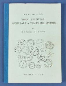 Australia NSW & ACT Post, Receiving, Telegraph & Telephone Offices. Hopson Tobin