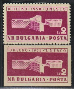 Bulgaria SC 1041 Perf and Imperf Mint Never Hinged