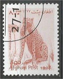 AFGHANISTAN, 1998, used 800, Wild cats, Scott 37