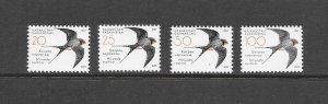 BIRDS - KAZAKHSTAN 558-61  MNH