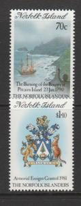 Norfolk islands 1990 History Norfolkers 1st series UM SG 477/8