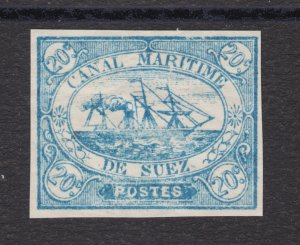 Egypt, Suez Canal Co. SG 3 MNH.1868 20c blue Steam Ship local, VF+